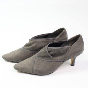 Bella Vita Carmel II gray suede heels booties